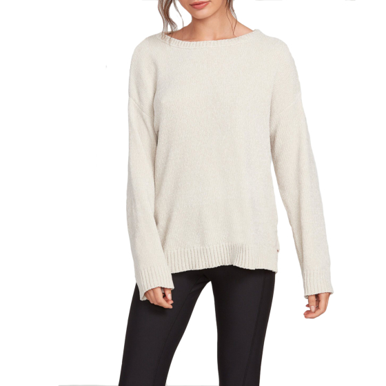 Volcom Women's Lived In Lounge Sweater - Bone - front