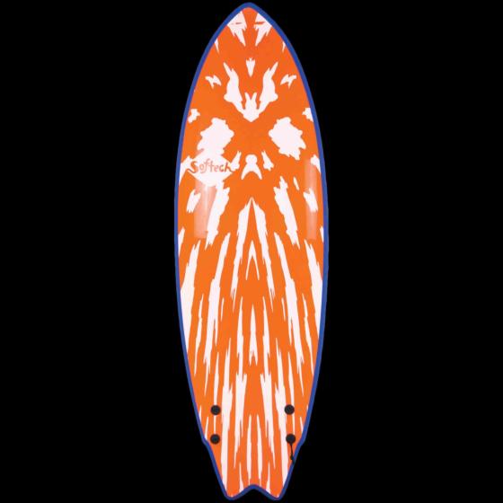 Softech Mason Twin 5'6 Soft Surfboard - Neon Red/White - Deck