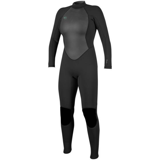 O'Neill Women's Reactor II 3/2 Back Zip Wetsuit - Black