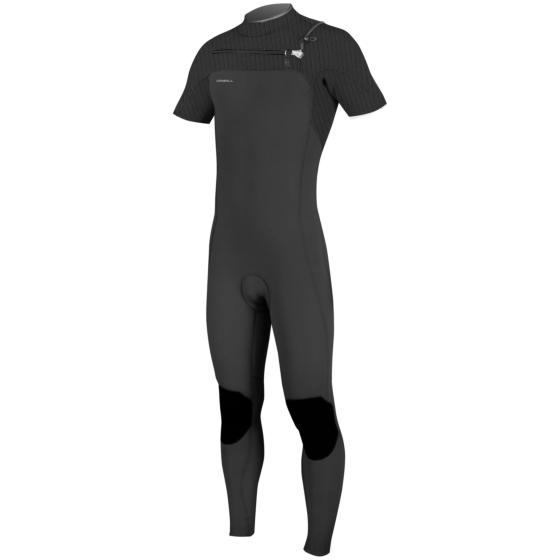 O'Neill HyperFreak 2mm Short Sleeve Chest Zip Wetsuit - Black