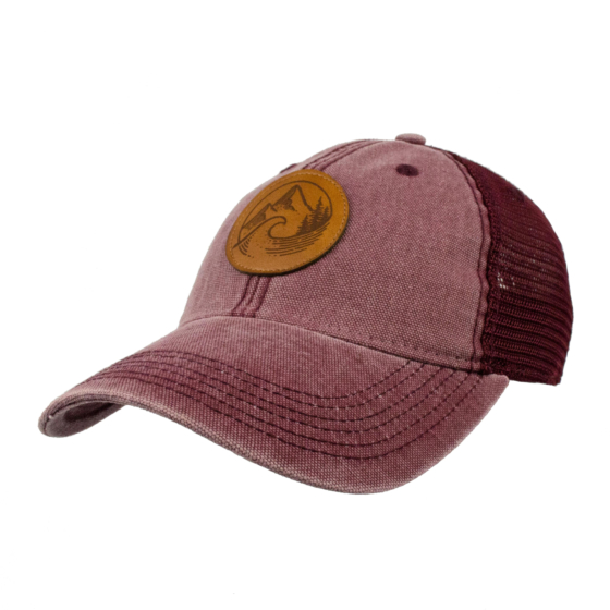 Cleanline PNW Mesh Hat - Burgundy