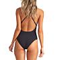 Billabong Women's Sol Searcher One Piece Swimsuit - Black Pebble - Back