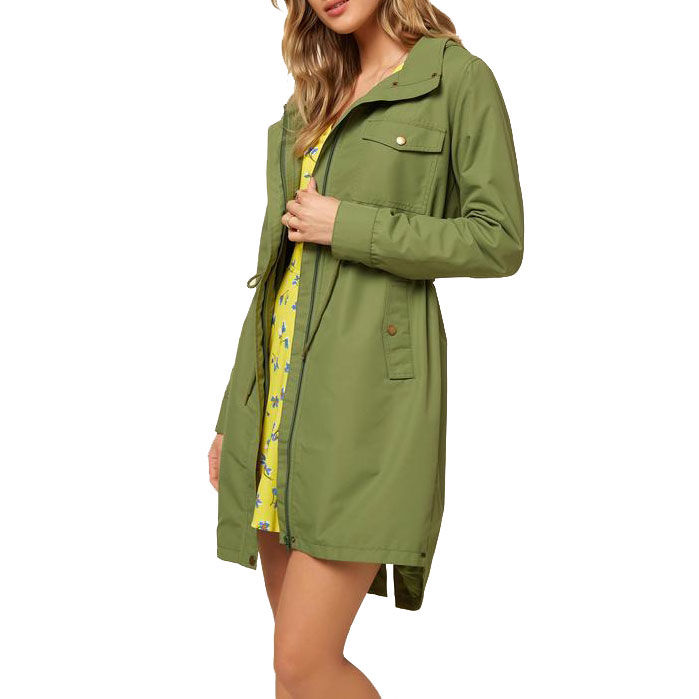 ONEILL Womens Water Resistant Long Length Woven Hooded Jacket