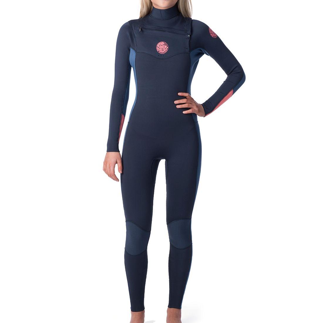 Rip Curl Womens Dawn Patrol Chest Zip 3//2 Wetsuit