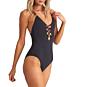 Billabong Women's Sol Searcher One Piece Swimsuit - Black Pebble - Side