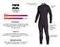 Billabong Furnace Ultra 6/5 Hooded Chest Zip Wetsuit - Internal Lining