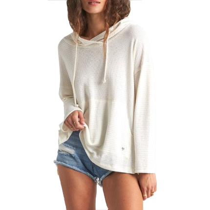 Billabong Women's Beach Daze Hooded Long Sleeve Top - Salt Crystal