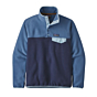 Patagonia Women's Lightweight Synchilla Snap-T Fleece Pullover - New Navy/Woolly Blue
