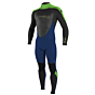 O'Neill Youth Epic 4/3 Back Zip Wetsuit - Navy/Black/DayGlo