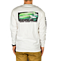 Cleanline Retro Wave Long Sleeve T-Shirt - White - Back