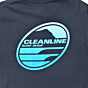 Cleanline New Rock T-Shirt - Blue Fade Back Screen Print
