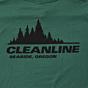 Cleanline Treeline Seaside T-Shirt - Evergreen Back