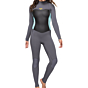 Roxy Women's Syncro 3/2 Back Zip Wetsuit - Deep Grey/Glicer Blue