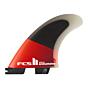 FCS II Accelerator PC Small Tri Fin Set - Red/Black