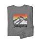 Patagonia Line Logo Ridge Long Sleeve Responsibili-Tee - Gravel Heather
