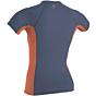 O'Neill Women's Premium Skins Short Sleeve Rash Guard - Mist/Coral Punch