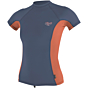 O'Neill Wetsuits Women's Premium Skins Short Sleeve Rash Guard - Mist/Coral Punc