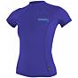 O'Neill Wetsuits Women's Skins Short Sleeve Rash Guard - Cobalt