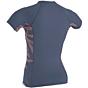 O'Neill Women's Side Print Short Sleeve Rash Guard - Mist/Faye
