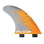 FCS Fins PC7 Tri Fin Set - Orange Smoke