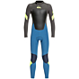 Quiksilver Youth Syncro 3/2 Back Zip Wetsuit -Marina/Jet Black