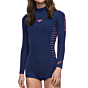 Roxy Women's Syncro 2mm Long Sleeve Spring Wetsuit - Navy/Coral Flame