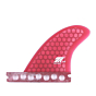 True Ames Fins 3.25'' Futures Side Bite Fin Set - Red Hexcore