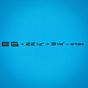 Torq Longboard 8'6 x 22 1/2 x 3 1/8 Surfboard - Blue - Dims