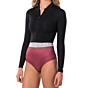 Rip Curl Women's G-Bomb 1mm Long Sleeve Front Zip Spring Wetsuit - Rust