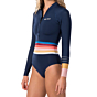 Rip Curl Women's G-Bomb 1mm Long Sleeve Front Zip Spring Wetsuit - Stripe Pack