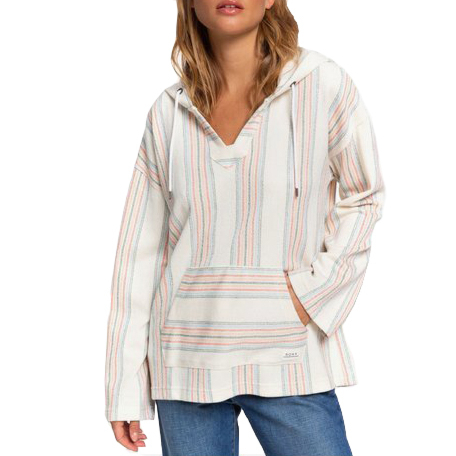 Roxy Women's Call Of The Ocean Hooded Poncho - North Atlantic Watergirl - front