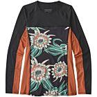 Patagonia Wetsuits Women's Micro Swell Long Sleeve Rash Guard - Cereus Flower/Black