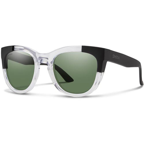 Smith Women's Sidney Polarized Sunglasses - Crystal Black Block/ChromaPop Grey Green